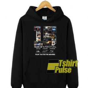 15 Years Of Supernatural hooded sweatshirt clothing unisex hoodie