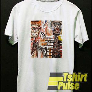 A vectorised Basquiat t-shirt for men and women tshirt