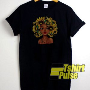650e1aaa0cd9 Black Girl With Sunflowers t-shirt for men and women tshirt