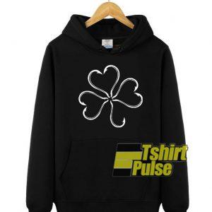 Clover Fish Hook hooded sweatshirt clothing unisex hoodie