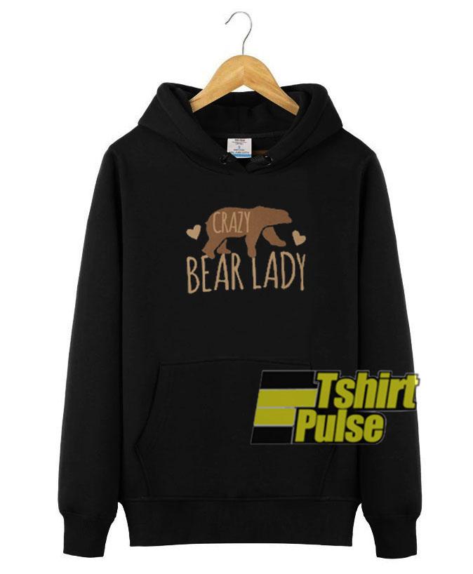 Crazy elephant lady unisex Hoodie hooded top
