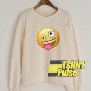 Crazy Face Emoji sweatshirt