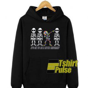 Dabbing Autism Skeleton hooded sweatshirt clothing unisex hoodie