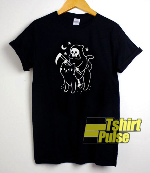 Death Rides A Black Cat t-shirt for men and women tshirt