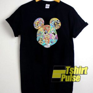 Disney Characters Head Mickey t-shirt for men and women tshirt