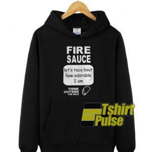 Fire Sauce Lets Taco hooded sweatshirt clothing unisex hoodie