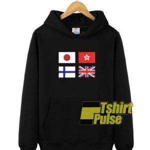 Flag Of Country hooded sweatshirt clothing unisex hoodie