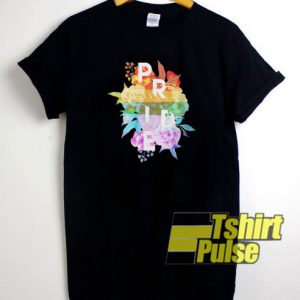 Floral Pride t-shirt for men and women tshirt