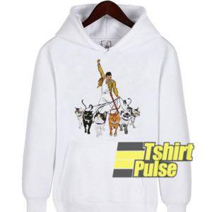 Freddie Mercury And Cats hooded sweatshirt clothing unisex hoodie