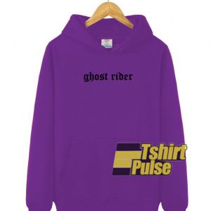 Ghost Rider Purple hooded sweatshirt clothing unisex hoodie