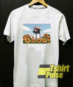 Girl In Sunflowers Field t-shirt for men and women tshirt