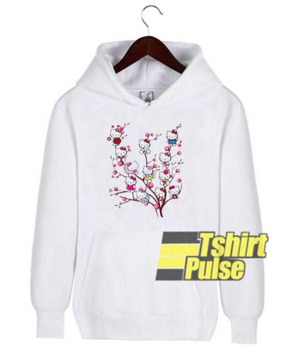 Hello Kitty In Peach Tree hooded sweatshirt clothing unisex hoodie