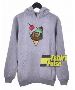 Ice Cream Turbo hooded sweatshirt clothing unisex