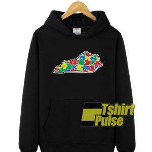 Kentucky Autism Awareness hooded sweatshirt clothing unisex hoodie