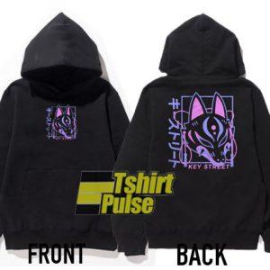 Key Street Kitsune hooded sweatshirt clothing unisex hoodie