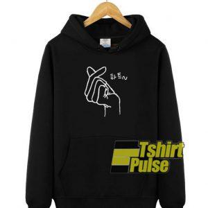 Korean Heart hooded sweatshirt clothing unisex hoodie