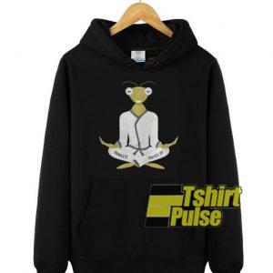 Mascot Praying Mantis Yoga hooded sweatshirt clothing unisex hoodie