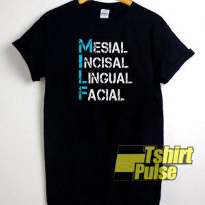 Mesial Incisal Lingual t-shirt for men and women tshirt