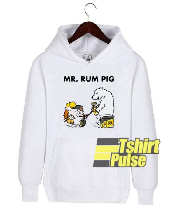 Mr Rum Pig hooded sweatshirt clothing unisex hoodie