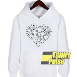 Nice Crochet Heart hooded sweatshirt clothing unisex hoodie