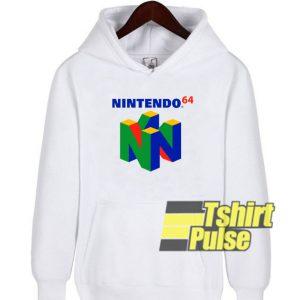 Nintendo 64 Logo hooded sweatshirt clothing unisex hoodie