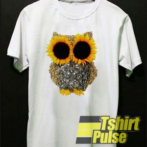 Owl Made Of Sunflower Seeds t-shirt for men and women tshirt