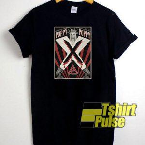 Poppy X Poster t-shirt for men and women tshirt