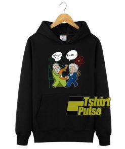 Pythagoras Fights Einstein hooded sweatshirt clothing unisex
