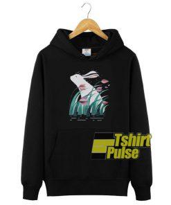 Rabbit Behind The Flowers hooded sweatshirt clothing unisex