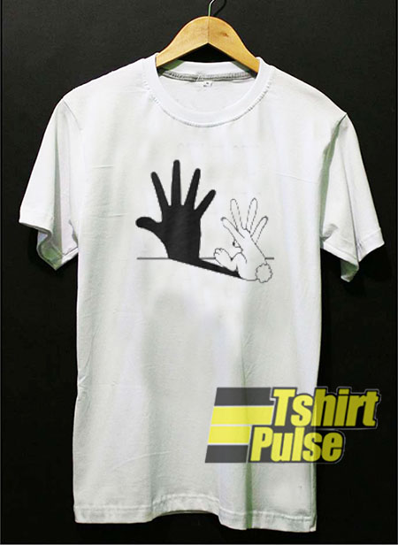 Rabbit Hand Shadow t-shirt for men and women tshirt