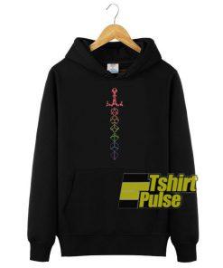 Rainbow Dice Sword hooded sweatshirt clothing unisex hoodie