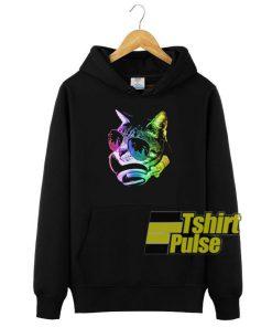 Rainbow Music Cat hooded sweatshirt clothing unisex