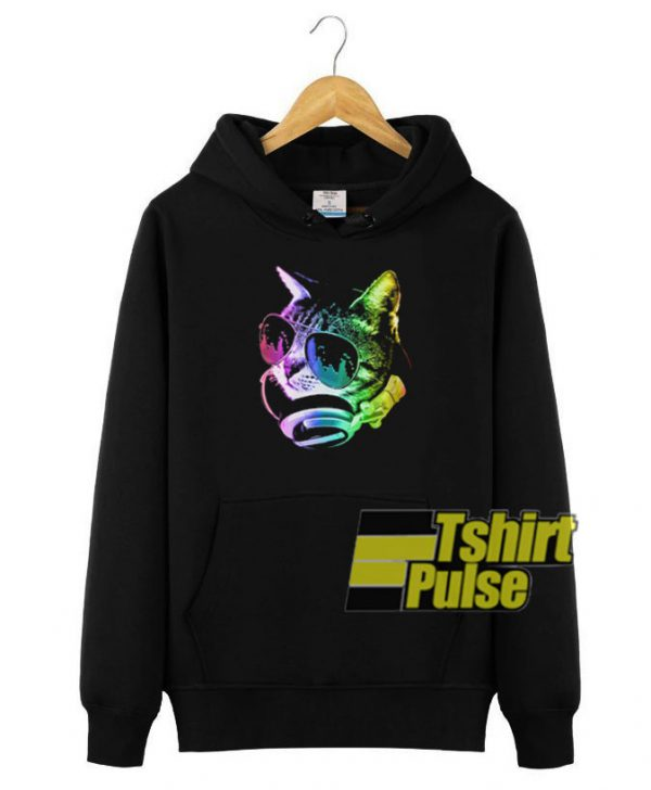 Rainbow Music Cat hooded sweatshirt clothing unisex hoodie