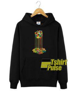 Rainbow Rubic Melted hooded sweatshirt clothing unisex
