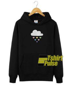 Raining Hearts hooded sweatshirt clothing unisex