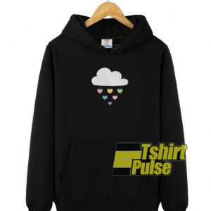 Raining Hearts hooded sweatshirt clothing unisex hoodie