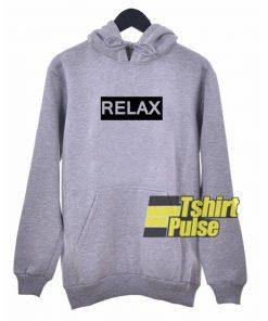 Relax Grey hooded sweatshirt clothing unisex
