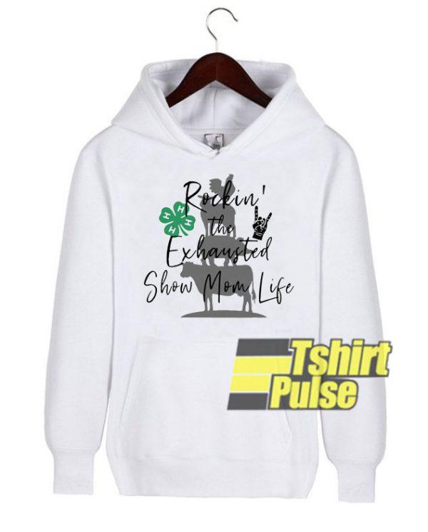 Rockin' The Exhausted hooded sweatshirt clothing unisex