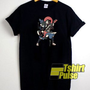 Samurai guitar t-shirt for men and women tshirt