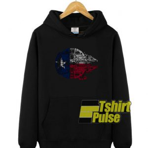 Texas Flag Millennium Falcon hooded sweatshirt clothing unisex hoodie