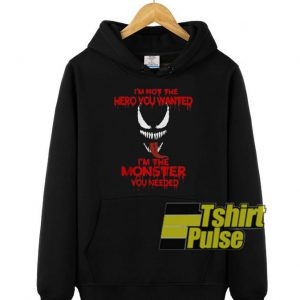 Venom I'm Not The Hero hooded sweatshirt clothing unisex