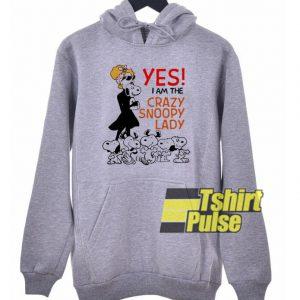 Yes I Am The Crazy Snoopy Lady hooded sweatshirt clothing unisex hoodie