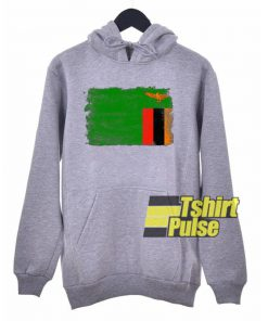 Zambia Flag hooded sweatshirt clothing unisex
