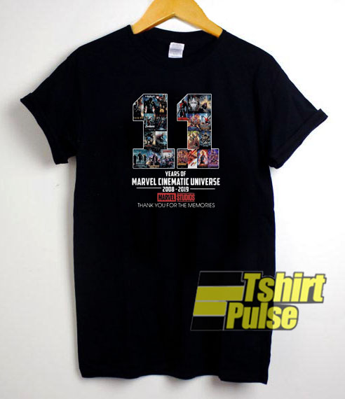 11 Years of Marvel Cinematic t shirt for men and women tshirt