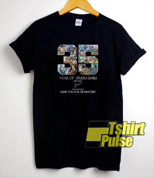 35 Year of Studio Ghibli t-shirt for men and women tshirt