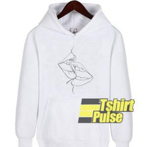 A Kiss In One Line hooded sweatshirt clothing unisex hoodie
