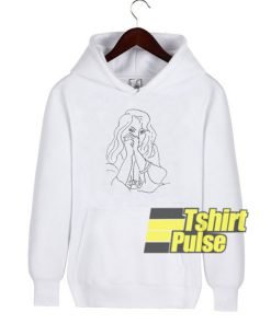 A Woman with Loose Hair hooded sweatshirt clothing unisex