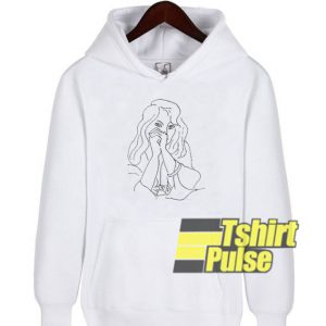 A Woman with Loose Hair hooded sweatshirt clothing unisex hoodie