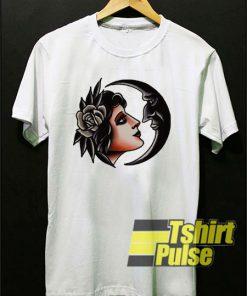 Crescent Girl Flash t-shirt for men and women tshirt