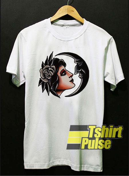 Crescent Girl Flash t shirt for men and women tshirt